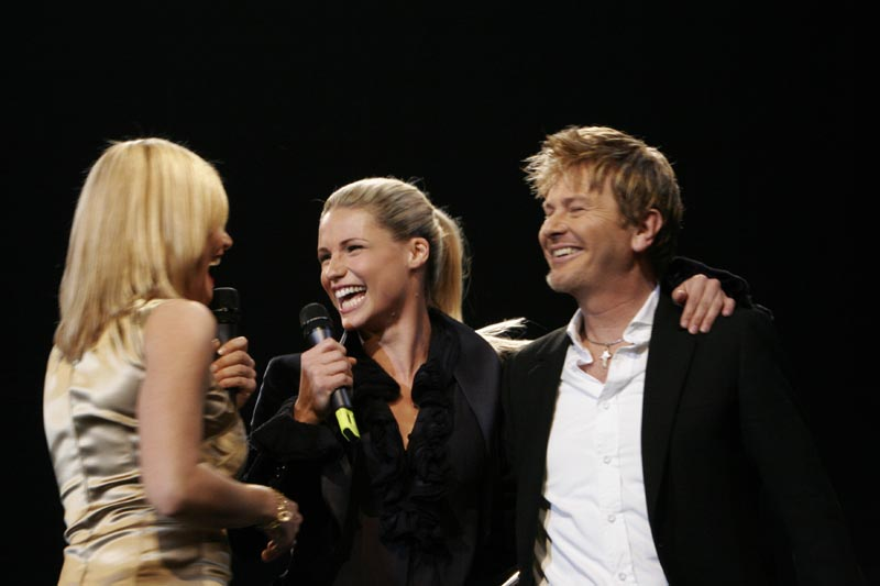 Simona Ventura + Michelle Hunziker + Ron