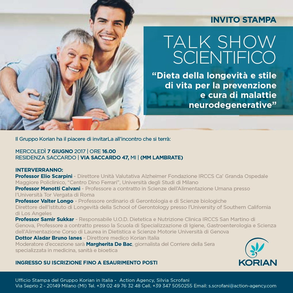 Invito Stampa Talk Show Gruppo Korian_For distribution